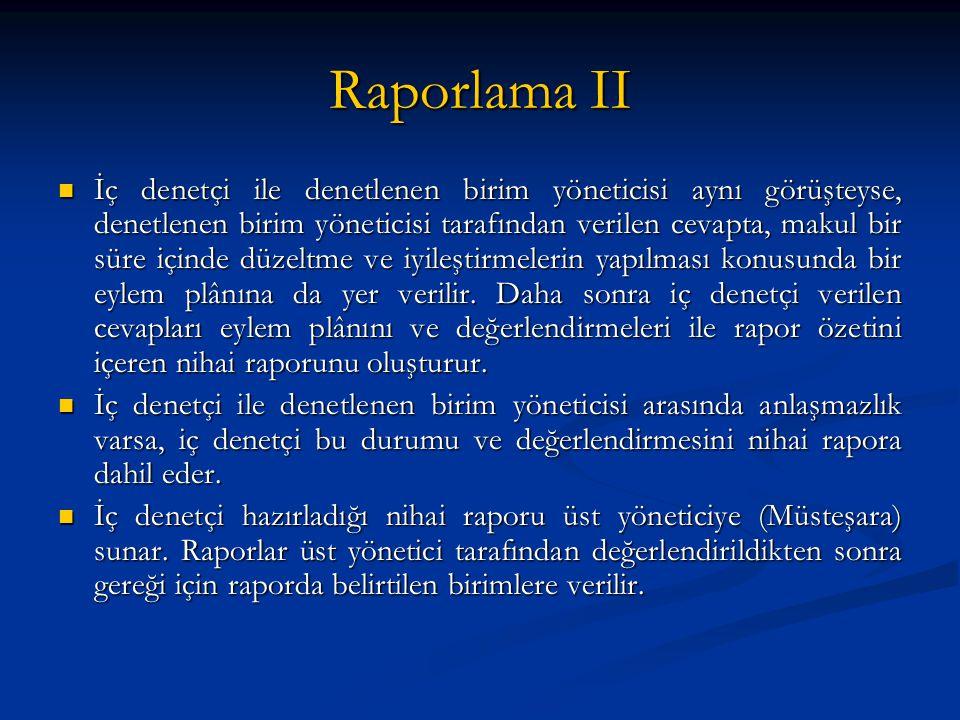 Raporlama II