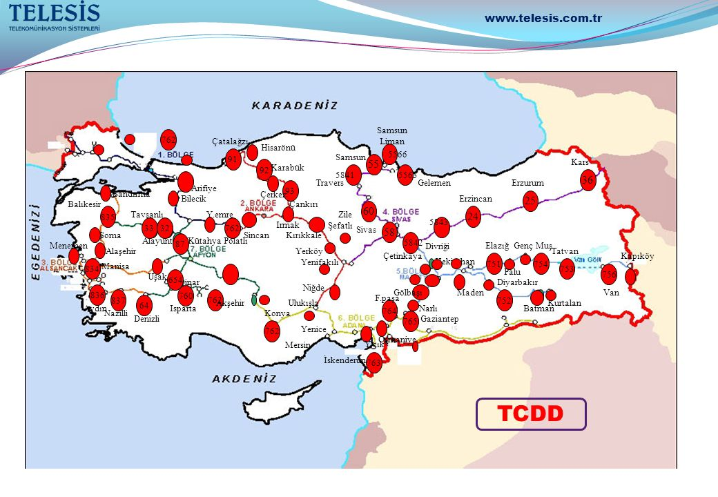 TCDD www.telesis.com.tr 55 36 25 60 24 58 762 Samsun Liman Çatalağzı