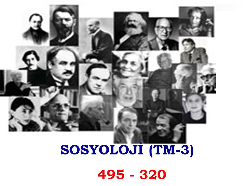 SOSYOLOJİ (TM-3) 495 - 320