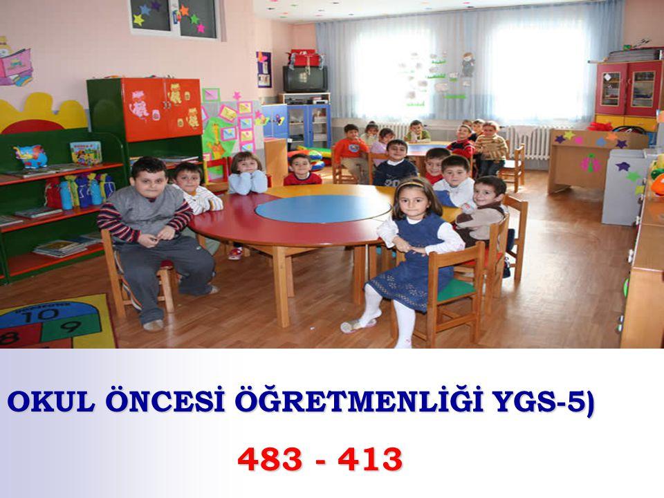 OKUL ÖNCESİ ÖĞRETMENLİĞİ YGS-5)
