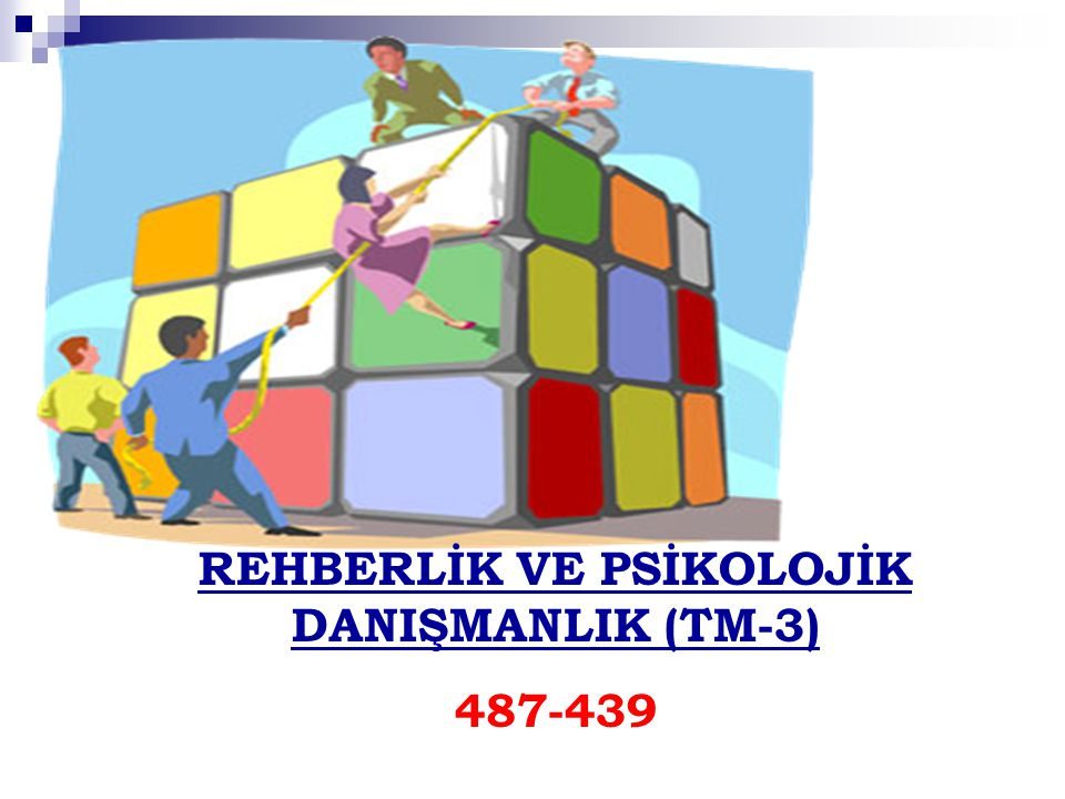 REHBERLİK VE PSİKOLOJİK DANIŞMANLIK (TM-3)