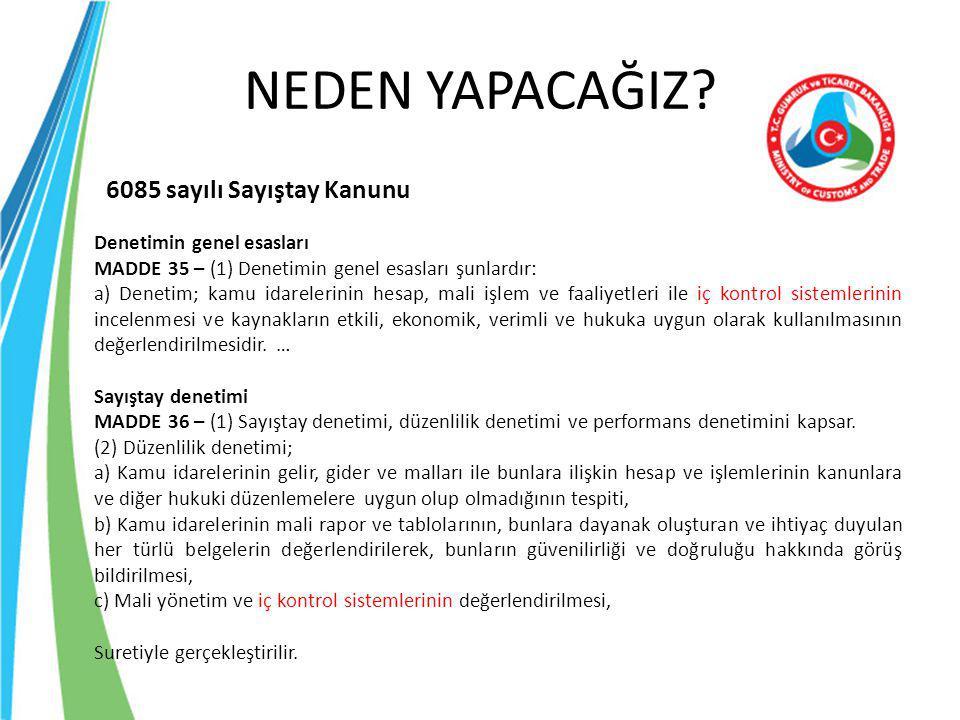 NEDEN YAPACAĞIZ MADDE 35 – (1) Denetimin genel esasları şunlardır: