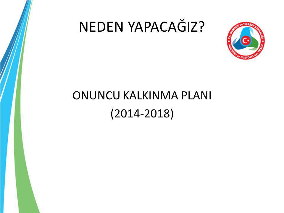 NEDEN YAPACAĞIZ ONUNCU KALKINMA PLANI (2014-2018)
