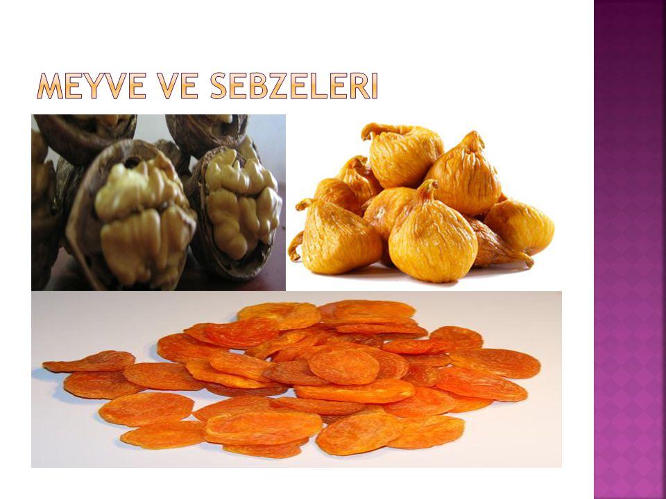 Meyve ve sebzeleri