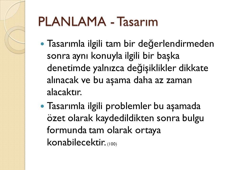 PLANLAMA - Tasarım