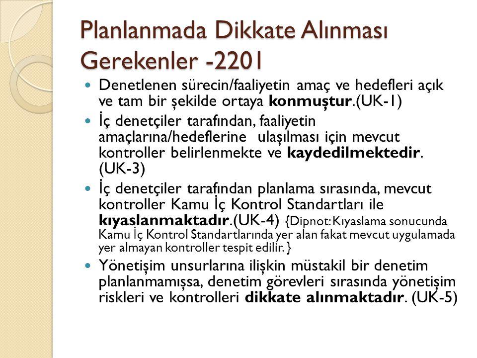 Planlanmada Dikkate Alınması Gerekenler -2201