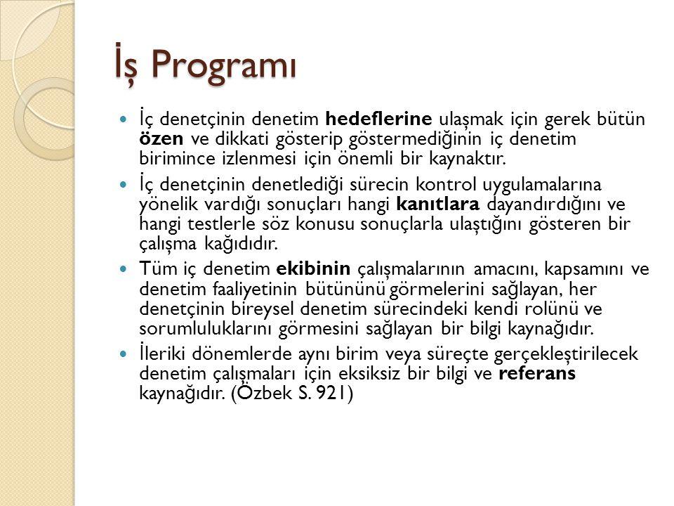 İş Programı