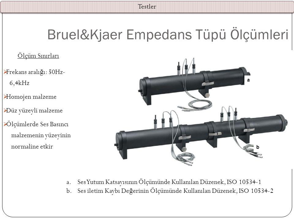 Bruel&Kjaer Empedans Tüpü Ölçümleri