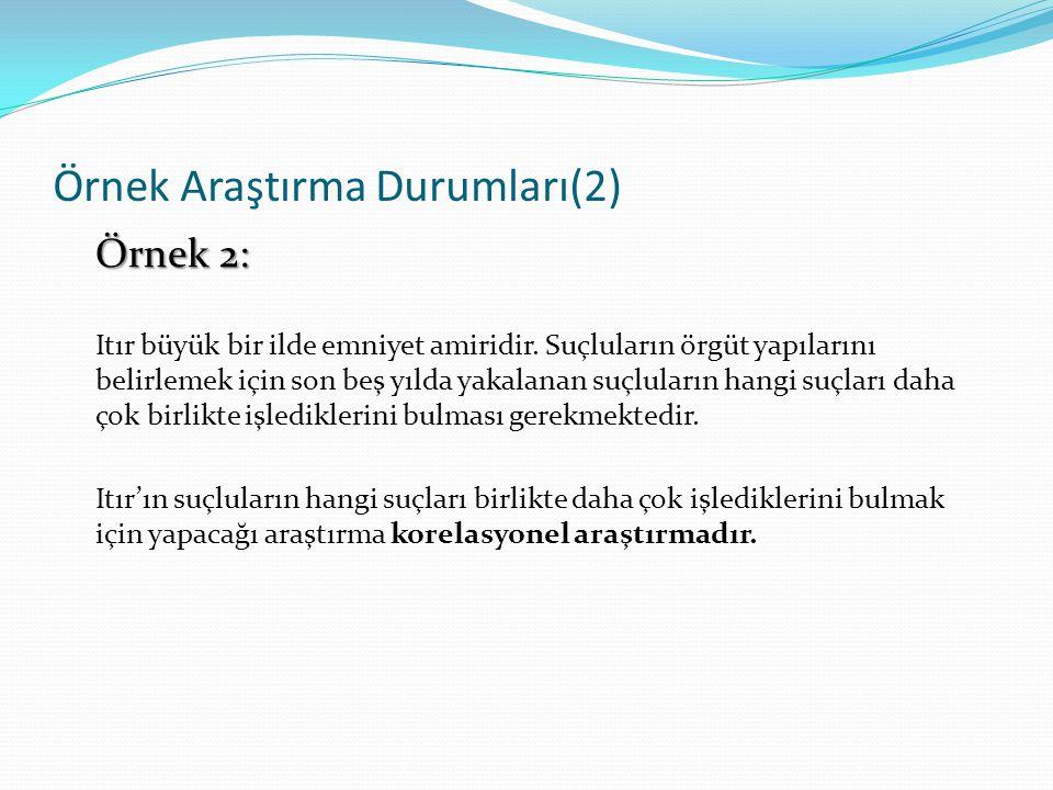 Örnek Araştırma Durumları(2)