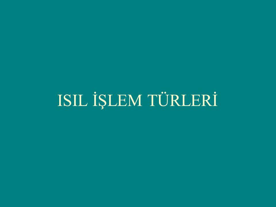 ISIL İŞLEM TÜRLERİ