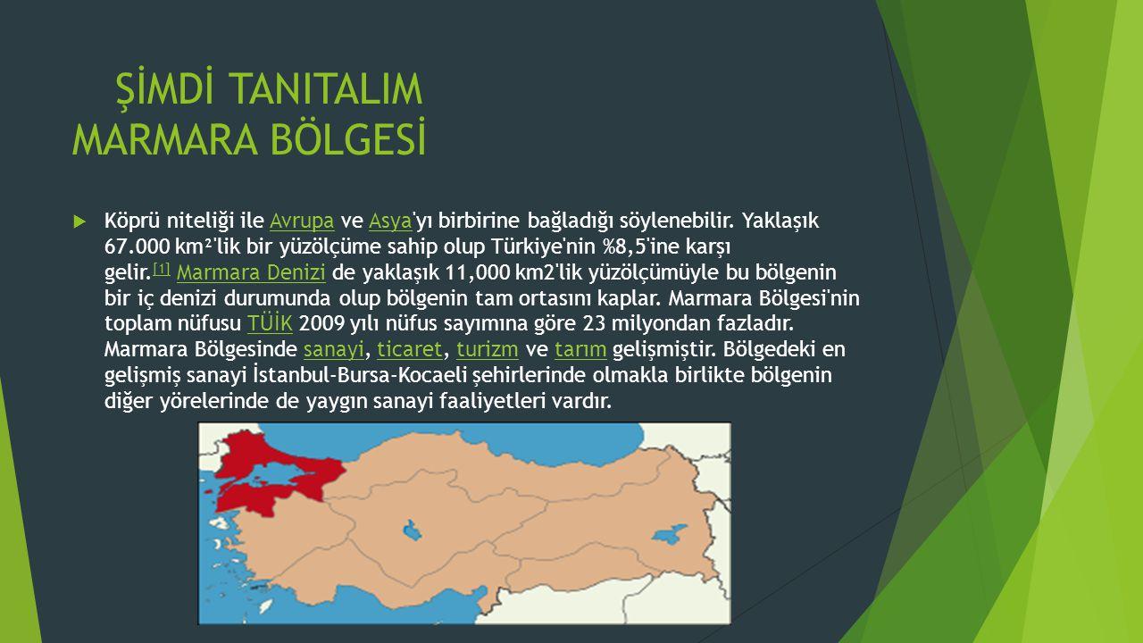 ŞİMDİ TANITALIM MARMARA BÖLGESİ