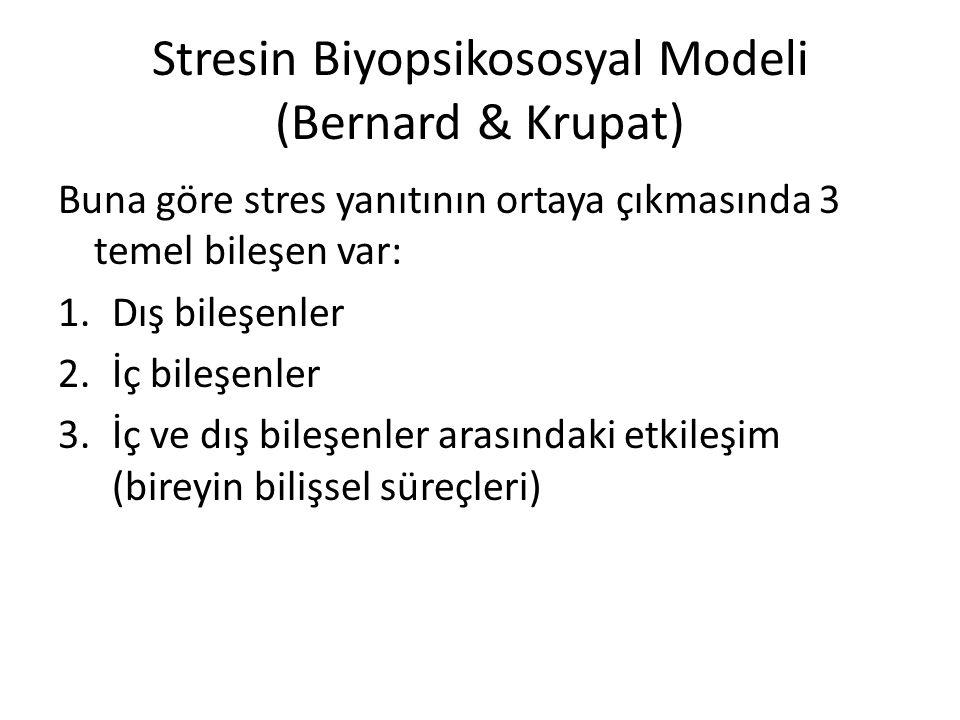 Stresin Biyopsikososyal Modeli (Bernard & Krupat)