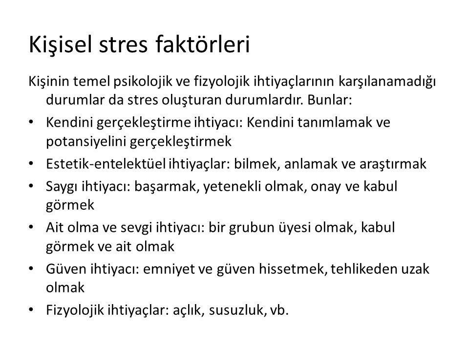 Kişisel stres faktörleri