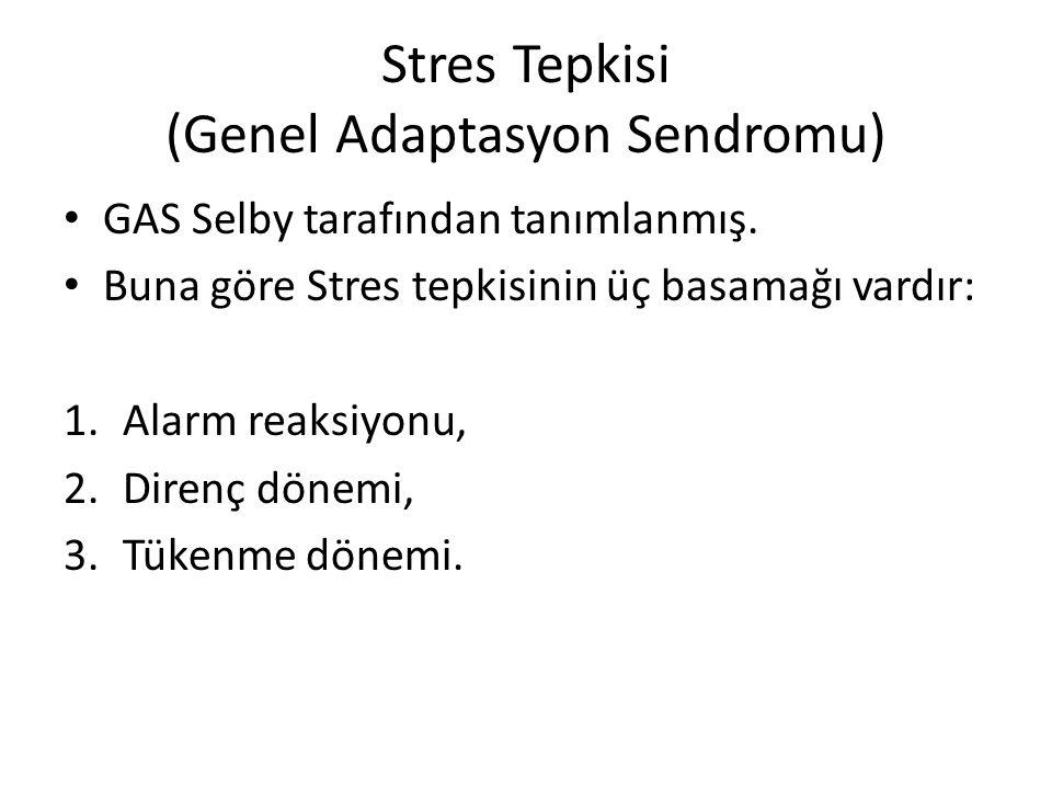 Stres Tepkisi (Genel Adaptasyon Sendromu)