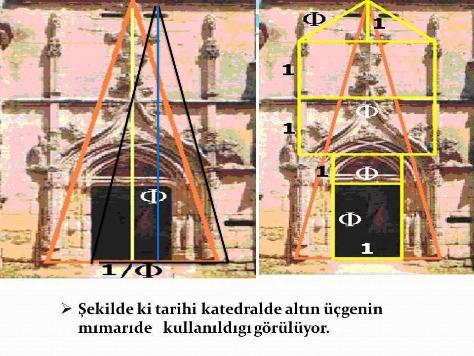 Şekilde ki tarihi katedralde altın üçgenin mımarıde kullanıldıgı görülüyor.