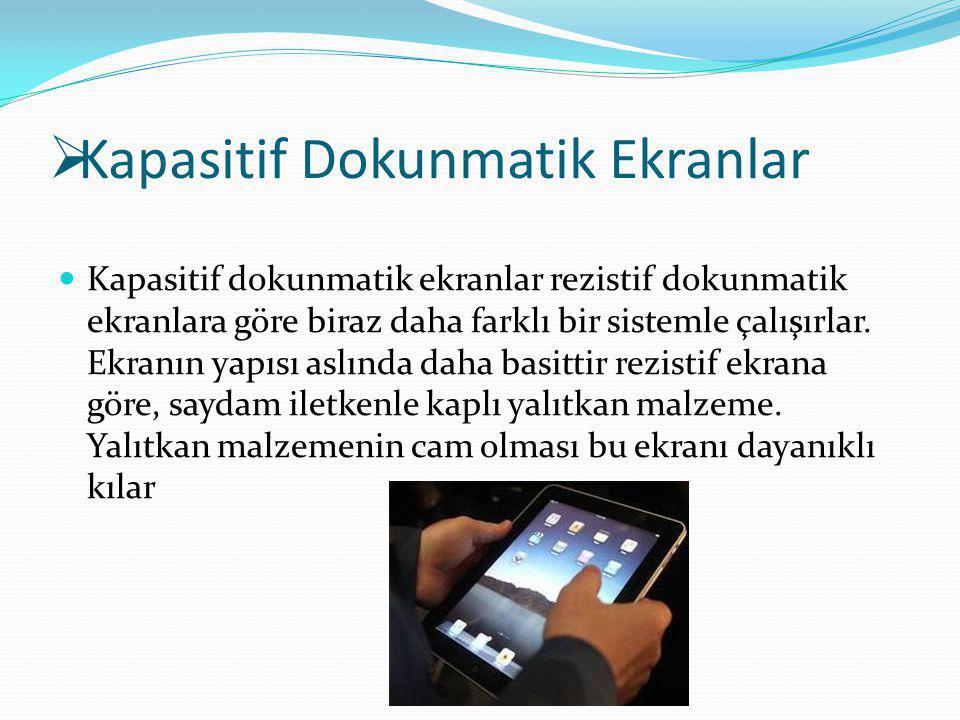 Kapasitif Dokunmatik Ekranlar