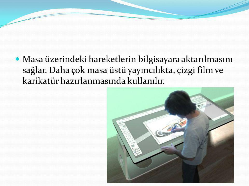 Masa üzerindeki hareketlerin bilgisayara aktarılmasını sağlar