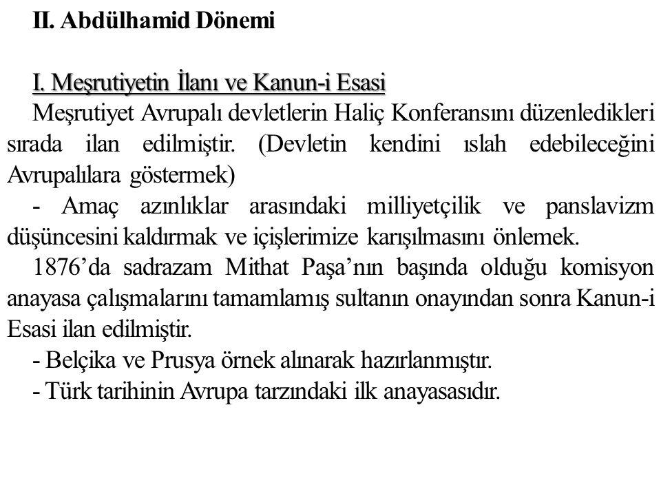 II. Abdülhamid Dönemi I.