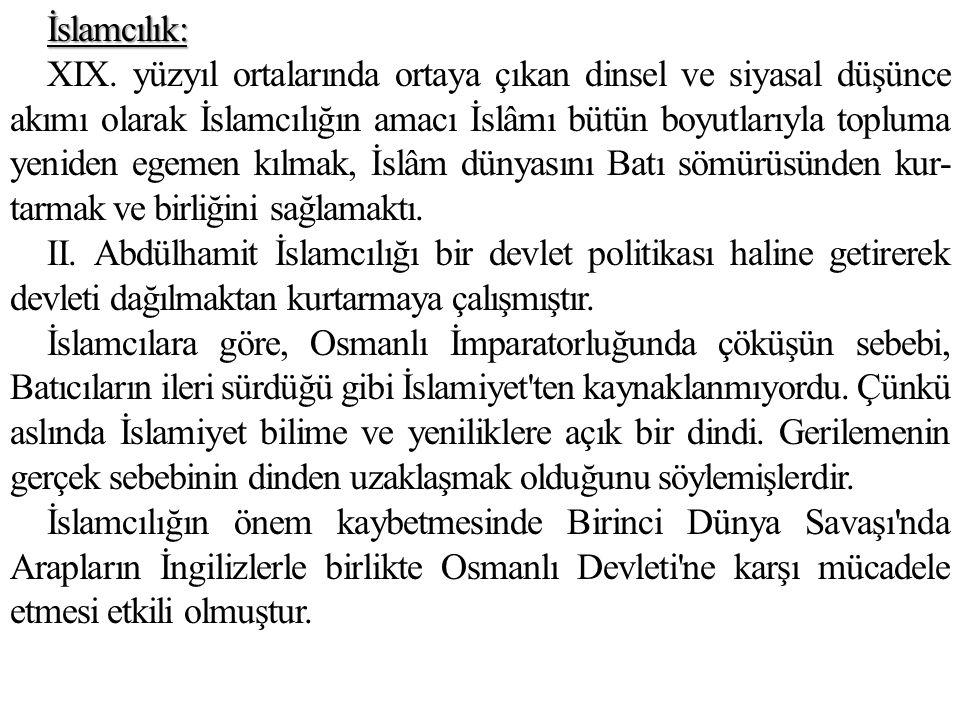 İslamcılık: XIX.