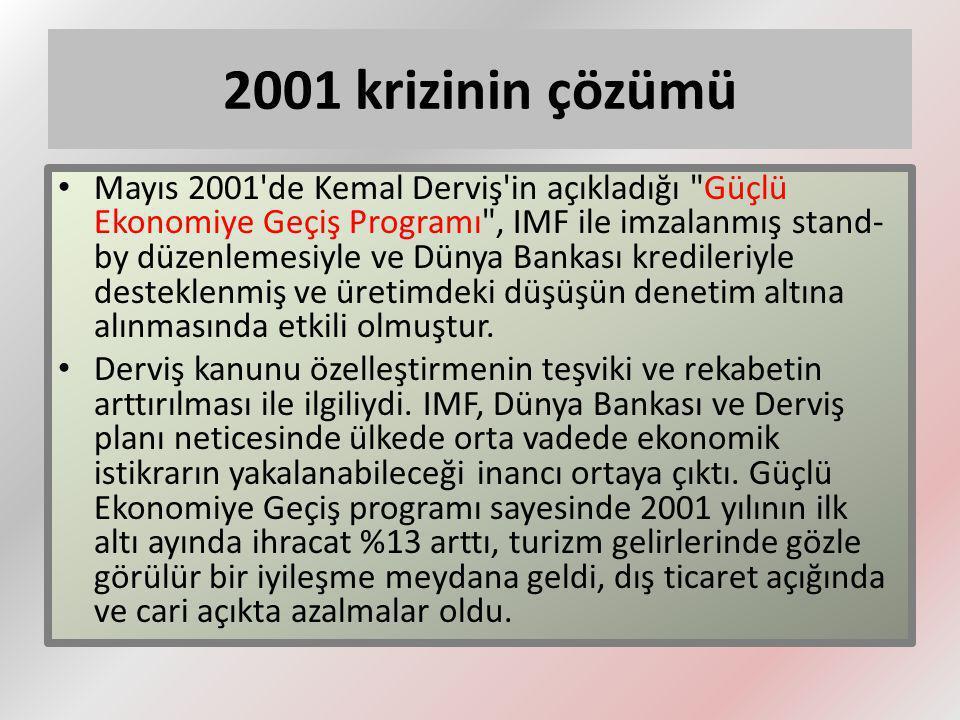2001 krizinin çözümü
