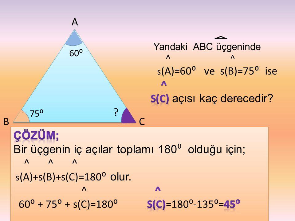 s(C) açısı kaç derecedir