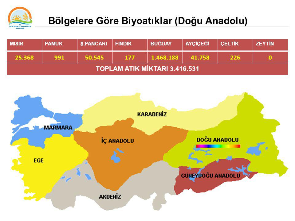 Bölgelere Göre Biyoatıklar (Doğu Anadolu)