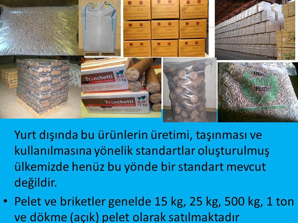 Yurt dışında bu ürünlerin üretimi, taşınması ve kullanılmasına yönelik standartlar oluşturulmuş ülkemizde henüz bu yönde bir standart mevcut değildir.