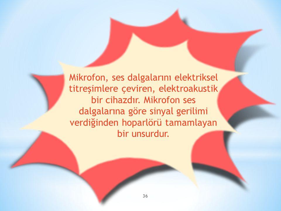 Mikrofon, ses dalgalarını elektriksel titreşimlere çeviren, elektroakustik bir cihazdır.