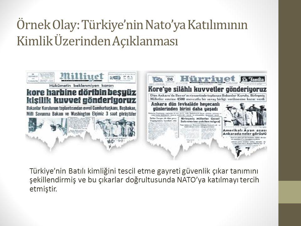 Örnek Olay: Türkiye'nin Nato'ya Katılımının Kimlik Üzerinden Açıklanması