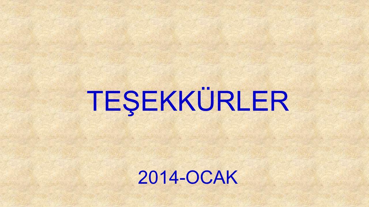 TEŞEKKÜRLER 2014-OCAK