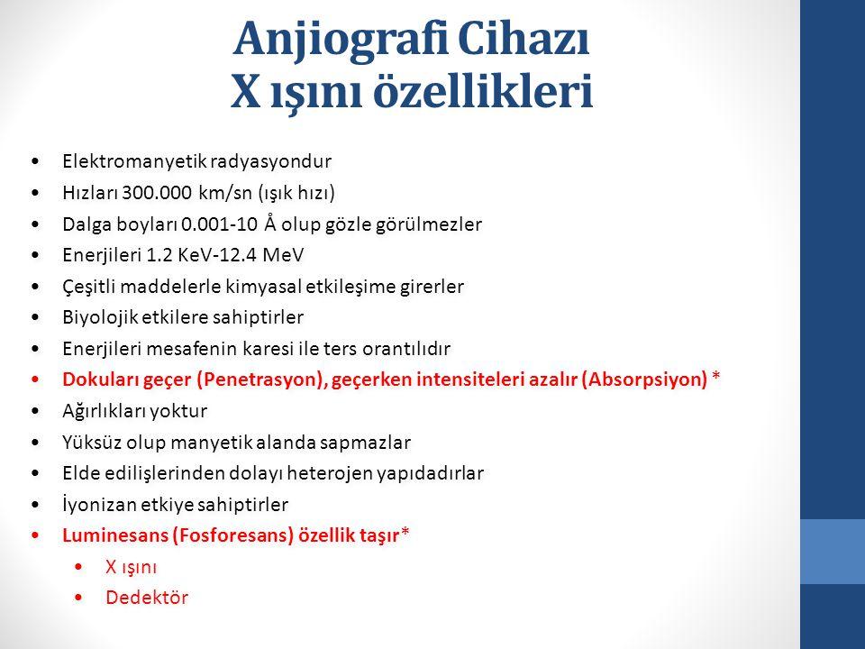 Anjiografi Cihazı X ışını özellikleri