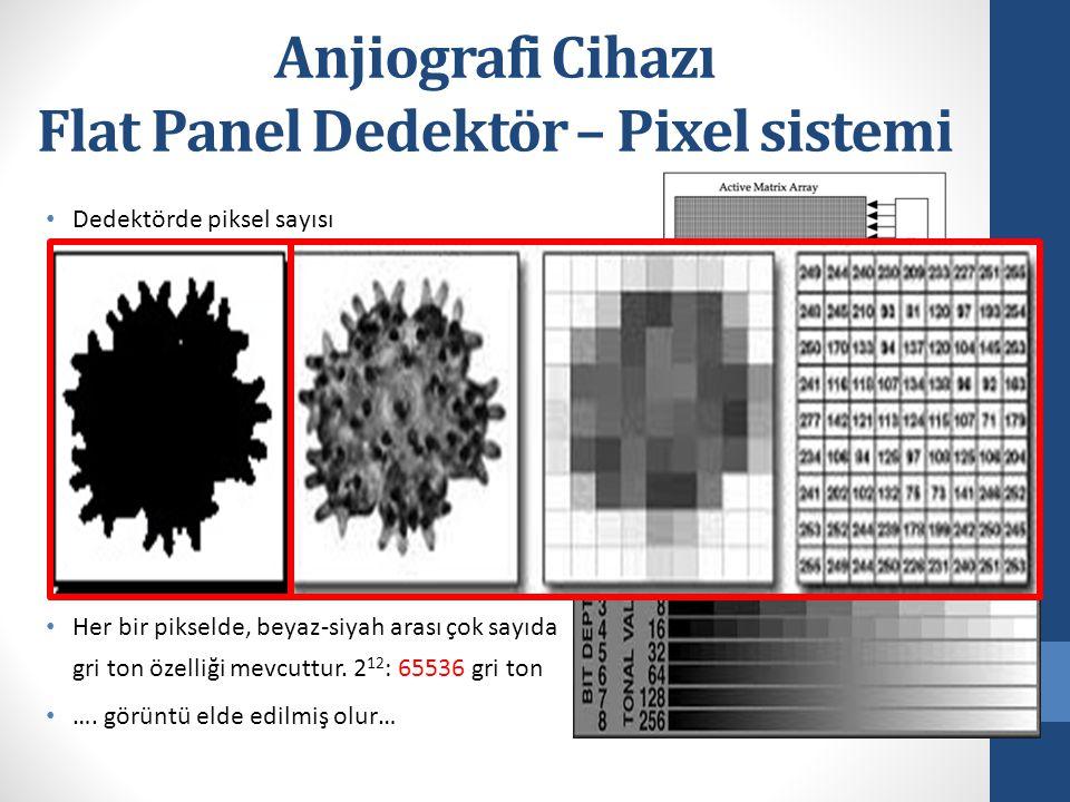 Flat Panel Dedektör – Pixel sistemi