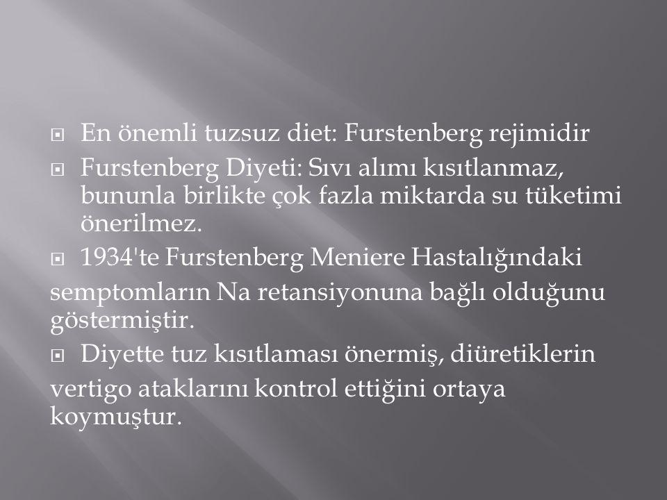 En önemli tuzsuz diet: Furstenberg rejimidir