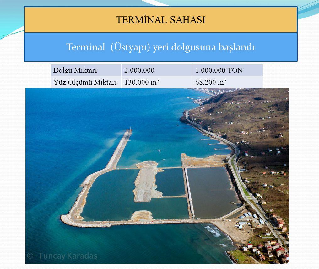 Terminal (Üstyapı) yeri dolgusuna başlandı