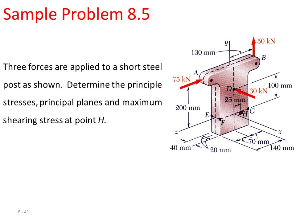 Sample Problem 8.5