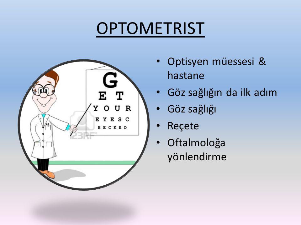 OPTOMETRIST Optisyen müessesi & hastane Göz sağlığın da ilk adım