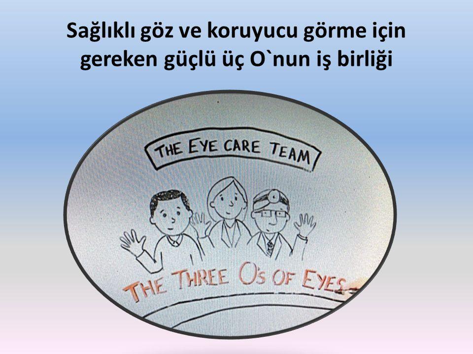 Sağlıklı göz ve koruyucu görme için gereken güçlü üç O`nun iş birliği