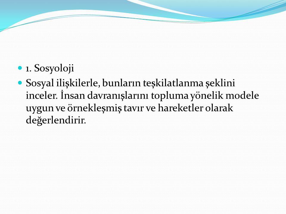 1. Sosyoloji