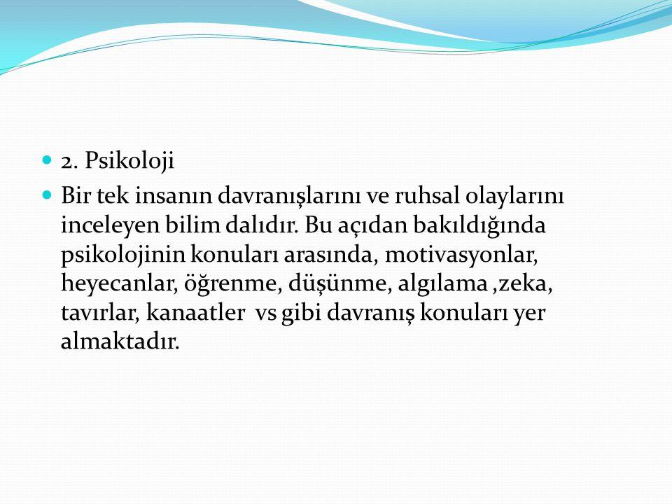 2. Psikoloji