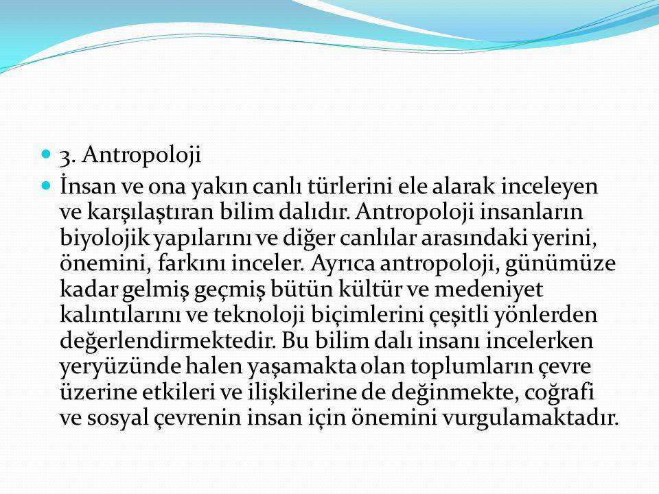 3. Antropoloji