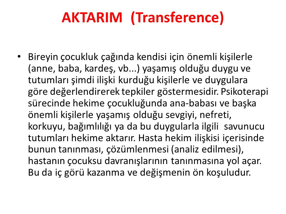 AKTARIM (Transference)