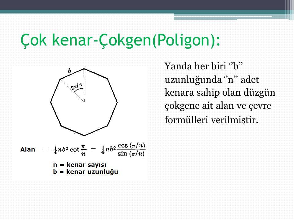 Çok kenar-Çokgen(Poligon):