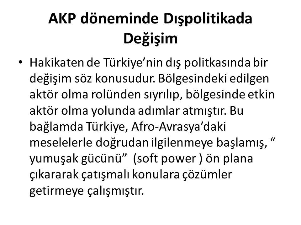 AKP döneminde Dışpolitikada Değişim