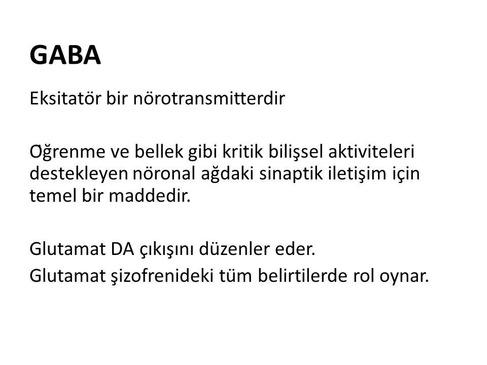 GABA Eksitatör bir nörotransmitterdir