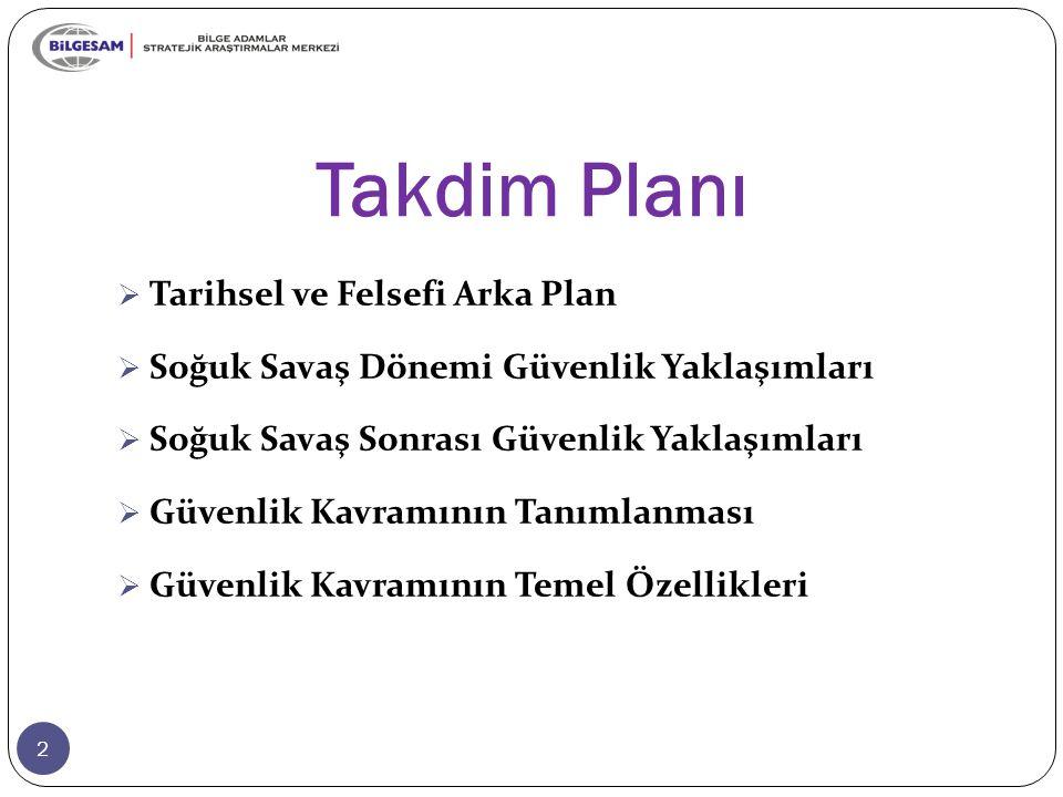 Takdim Planı Tarihsel ve Felsefi Arka Plan