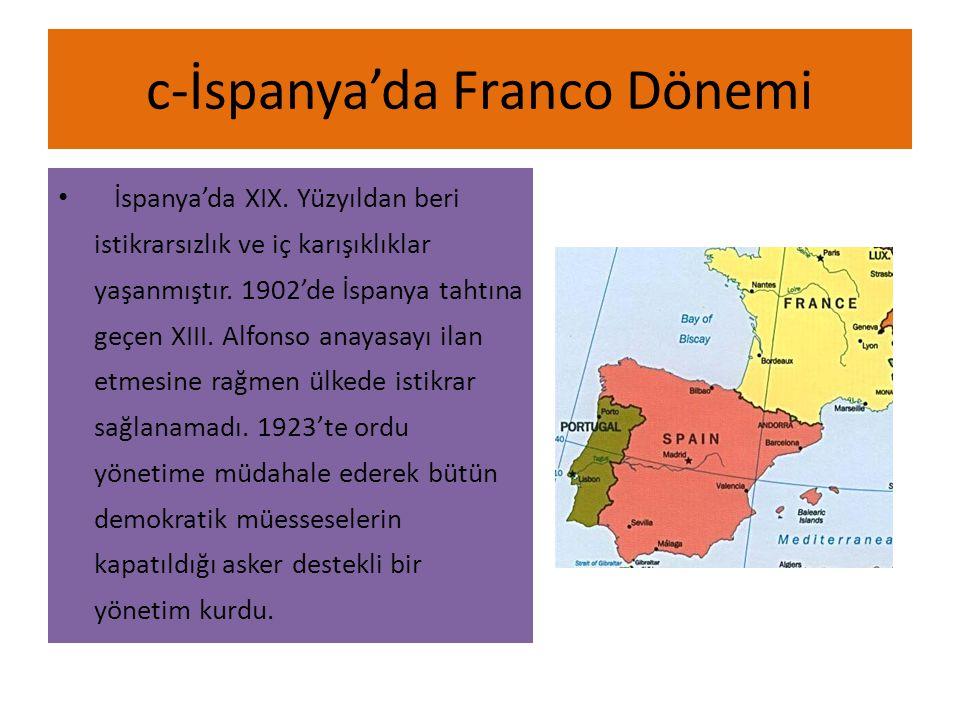 c-İspanya'da Franco Dönemi
