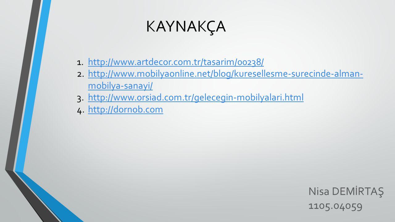 KAYNAKÇA Nisa DEMİRTAŞ 1105.04059