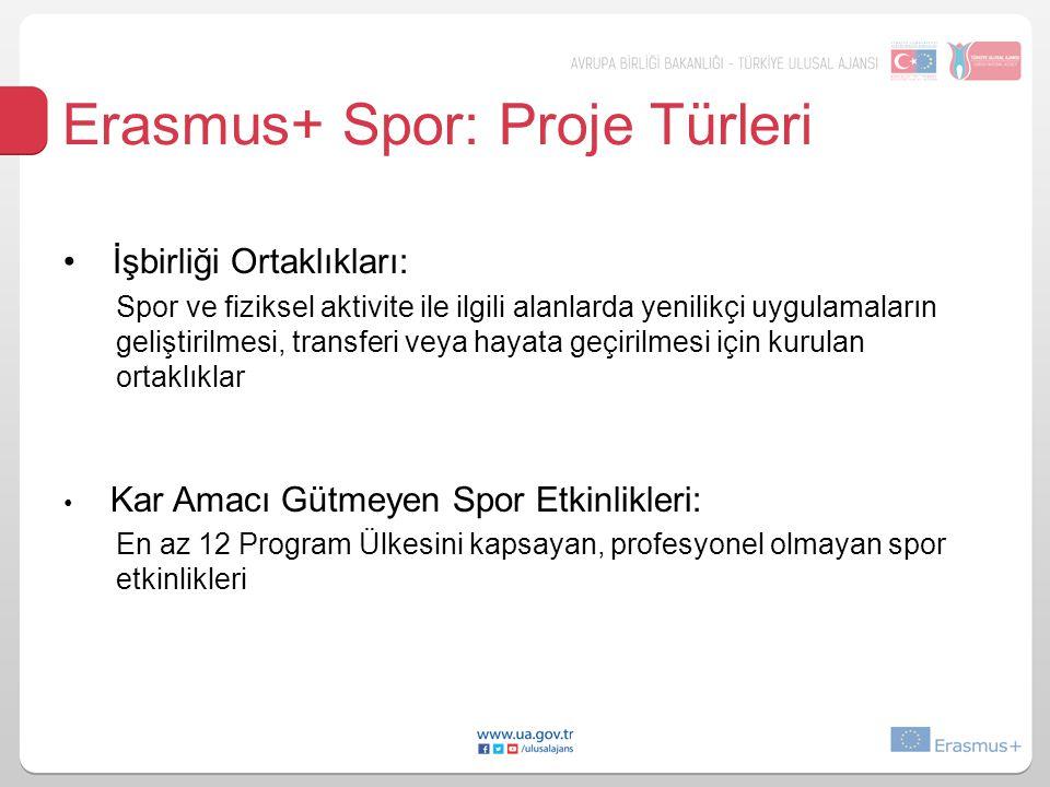 Erasmus+ Spor: Proje Türleri