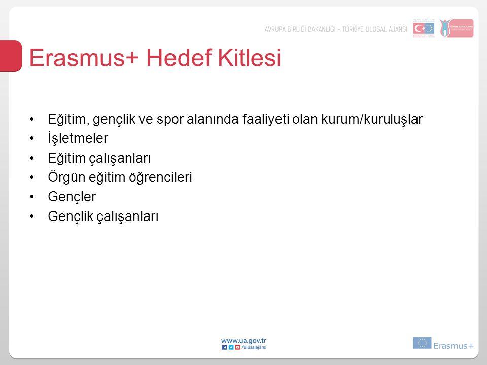 Erasmus+ Hedef Kitlesi