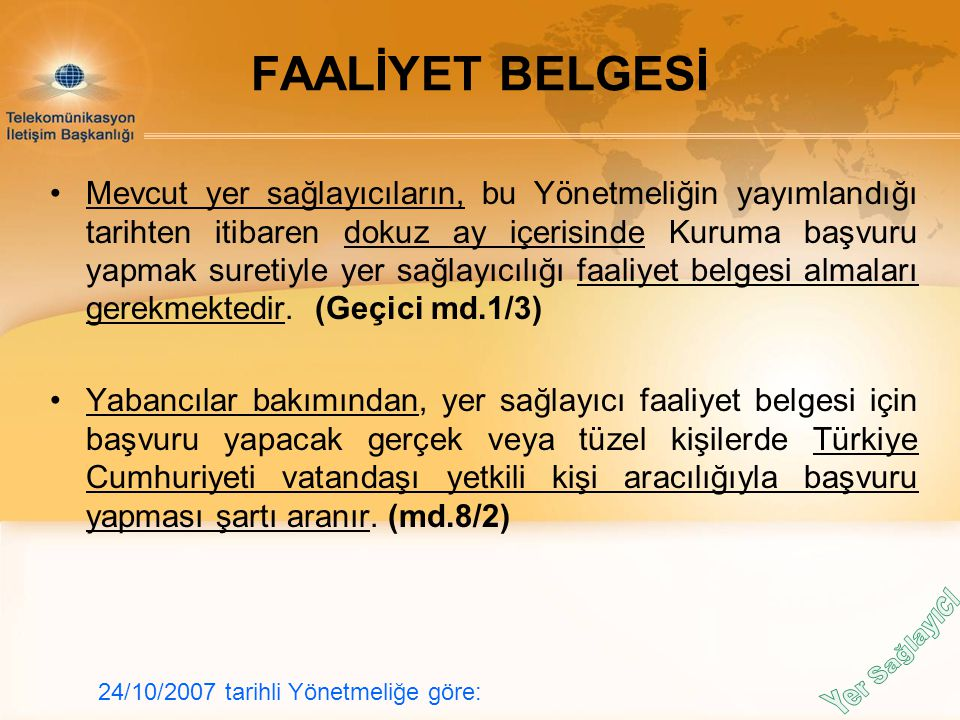 FAALİYET BELGESİ